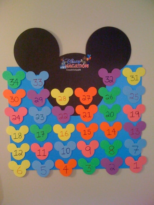 Create Your Own Disney Vacation Countdown Calendar