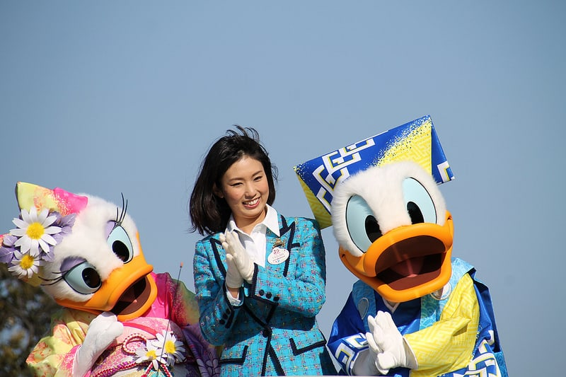 Donald and Daisy Duck in Kimonos