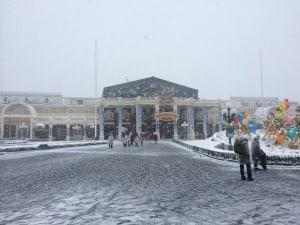 Tokyo Disneyland Park Entrance Snow