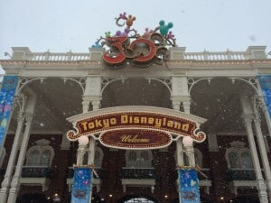 Welcome to Tokyo Disneyland, currently, the coldest place on Earth!