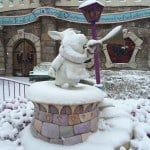 White Rabbit Covered in Snow