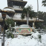 The Enchanted Tiki Room Covered in Snow
