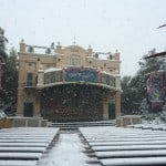 Theater Orleans Covered in Snow