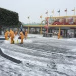 Grand Circuit Raceway being cleared by Cast Members.