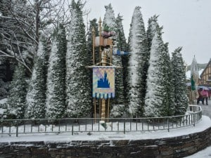 Elsa decided that Fantasyland should be renamed to Snowland
