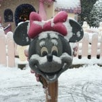 Minnie's Mailbox Covered in Snow