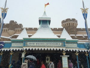 Snow White's Adventure Covered in Snow
