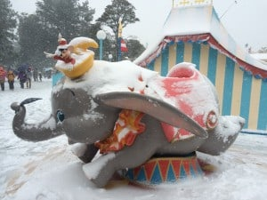 Dumbo and Timothy Covered in Snow