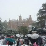 Haunted Mansion Covered in Snow