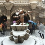 Sorcerer Mickey Braving the Snow in Tokyo Disneyland