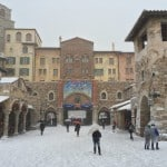 Entrance to the Mediterranean Harbor in a blanket of snow