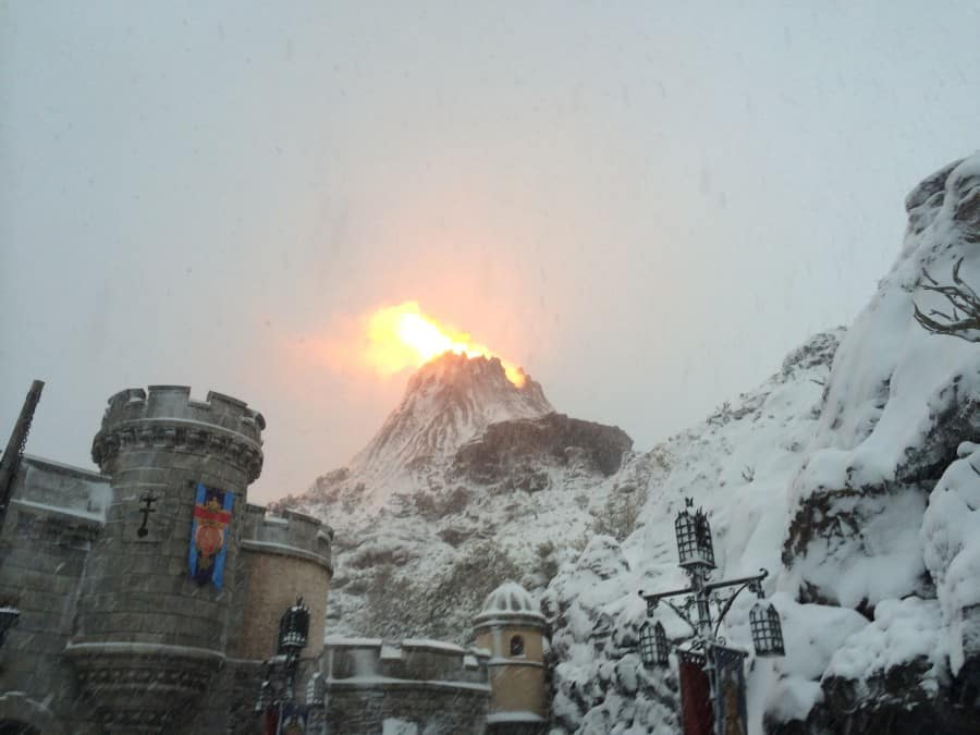 Mount Prometheus While Covered in Snow