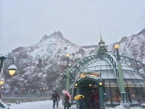 Mount Prometheus in Mysterious Island Covered in Snow