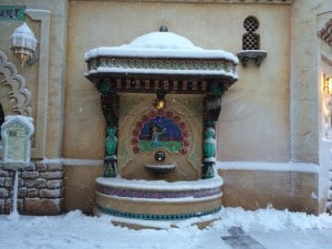 Jasmine in the Arabian Coast Covered in Snow