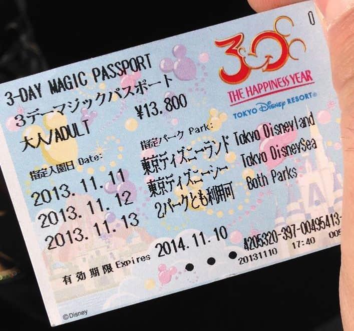 Tokyo Disney Resort Park Tickets Passports
