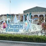 Frozen Fantasy Decorations in World Bazaar and Fantasyland