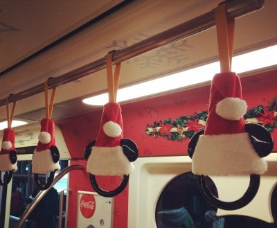 Tokyo Disney Resort Monorail Decorated for Christmas