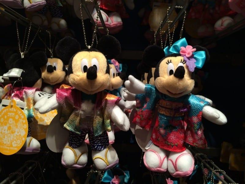 Mickey and Minnie Kimono Plush New Years 2015 Tokyo Disney Resort