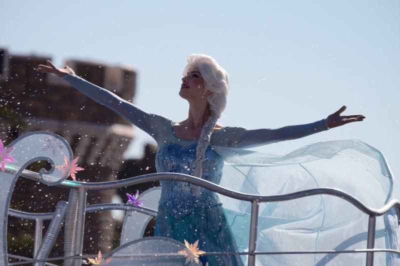 Anna and Elsa Frozen Fantasy Greeting Tokyo Disneyland 2015