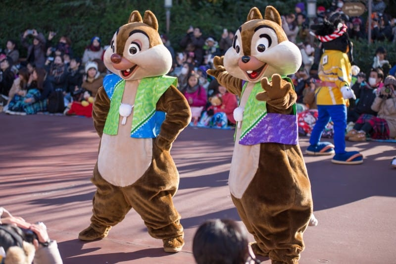 Chip N Dale Tokyo Disneyland New Years Greeting 2015 Duy Phan Photography