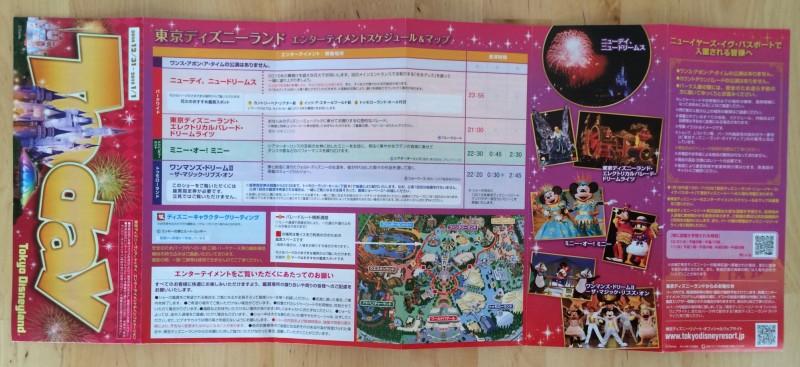 Tokyo Disney Resort New Years Map 2015 Entertainment Schedule Disneyland