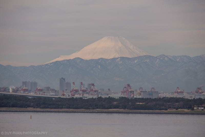 Mt Fuji from Tokyo Disney Resort Zoomed In
