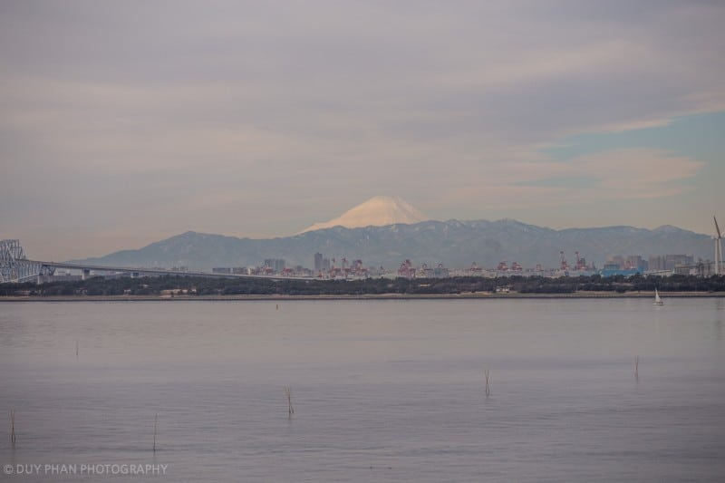 Mt Fuji from Tokyo Disney Resort Zoomed Out