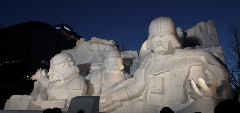 Star Wars Snow Sculpture Sapporo Japan Full
