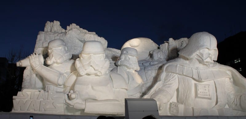 Star Wars Snow Sculpture Sapporo Japan Full Profile
