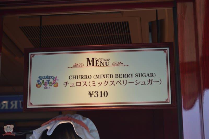Churro (Mixed Berry Sugar) : 310yen