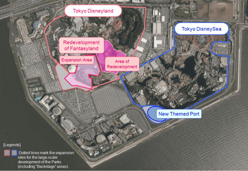Expansion Locations at Tokyo Disney Resort for 2017