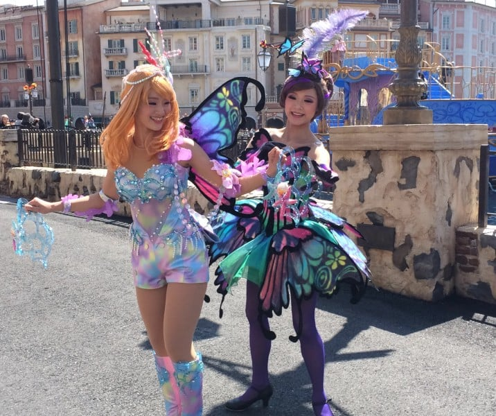 Fashionable Easter at Tokyo DisneySea Dancers Costume Change Pieces