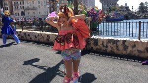 Fashionable Easter at Tokyo DisneySea Female Dancer Mysterious Island and Mermaid Lagoon Costume