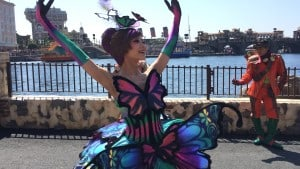 Fashionable Easter at Tokyo DisneySea Lost River Delta Female Dancer Upclose