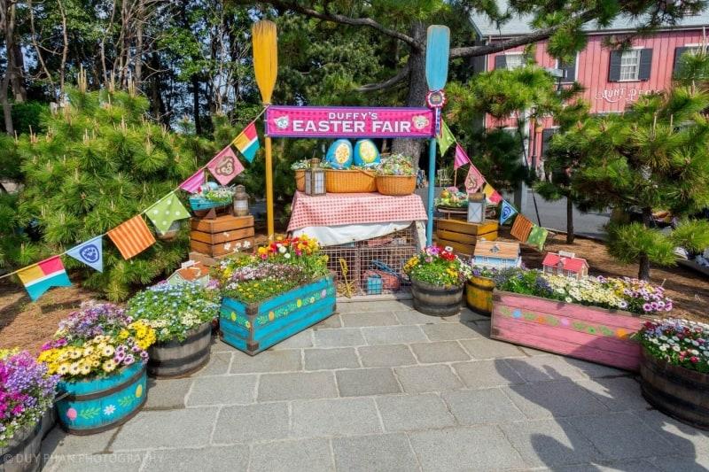 Duffy's Easter Fair Display in Tokyo DisneySea