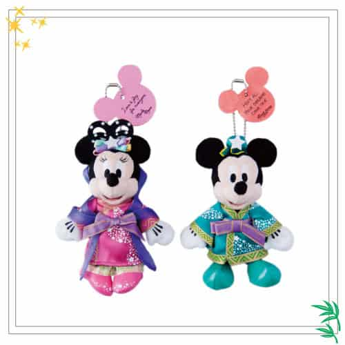 Mickey & Minnie Stuffed Badge Set ¥2,800
