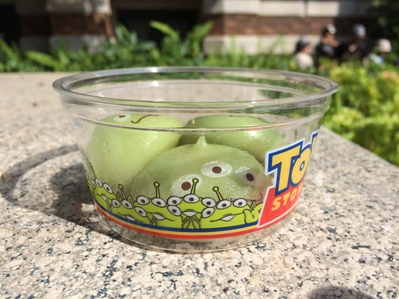 Green Alien Mochi Tokyo DisneySea Container
