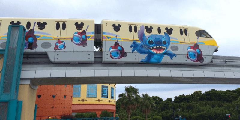 Stitch Monorail at Tokyo Disney Resort 2015