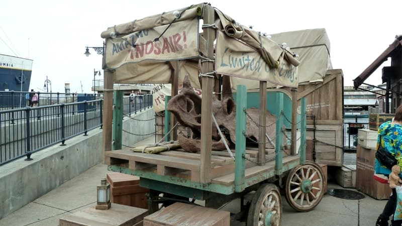 Dinosaur Sausage Cart