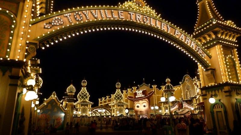 Toy Story Mania Entrance Night