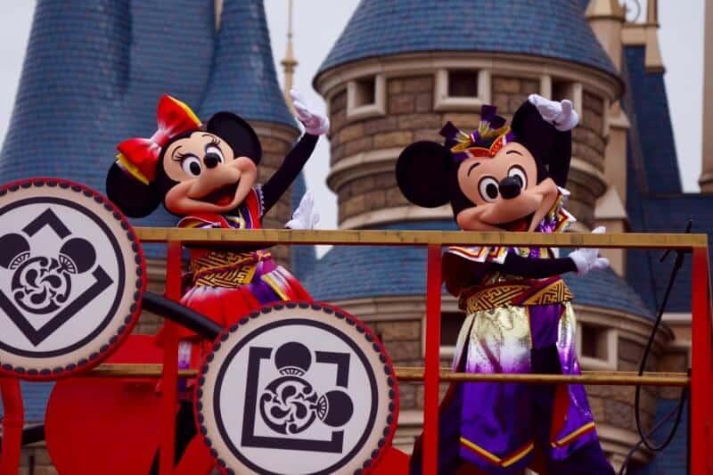 Mickey and Minnie Garyo Gunbu at Tokyo Disneyland