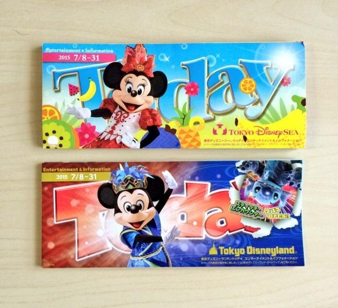 Tokyo Disney Resort Park Maps July 2015
