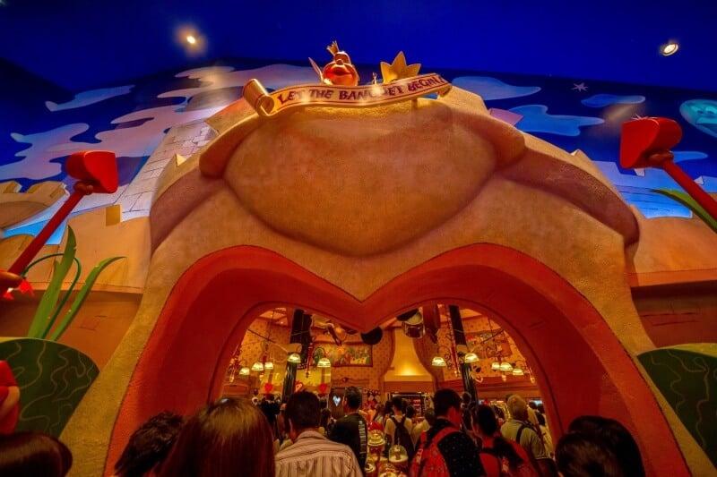 Queen of Hearts Banquet Hall Tokyo Disneyland Buffet Line