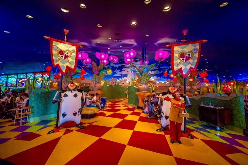 Queen of Hearts Banquet Hall Tokyo Disneyland Entry Way