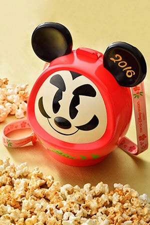 Popcorn, with Bucket ¥1,800 Available from December 26, 2015 - January 5, 2016 at the Popcorn Wagon next to Sweetheart Cafe