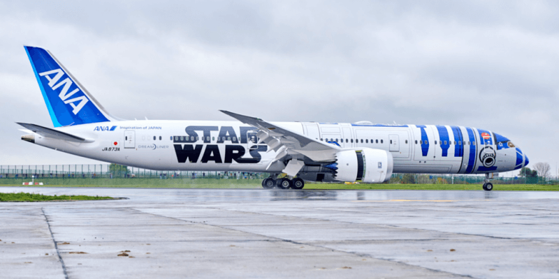 Star Wars ANA Plane