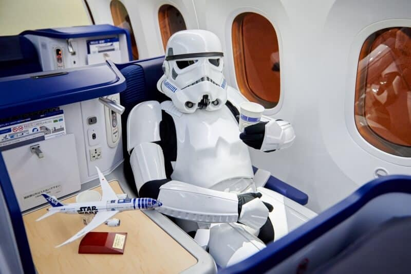 Stormtrooper on ANA Plane