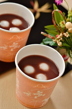 Sweet Bean Soup Available December 26, 2015 - 5 January, 2016 at Ice Cream Cone and Cafe Orleans