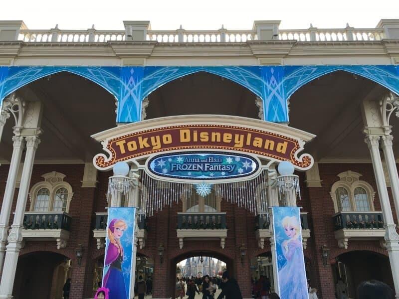 Anna and Elsa Frozen Fantasy Entrance Tokyo Disneyland