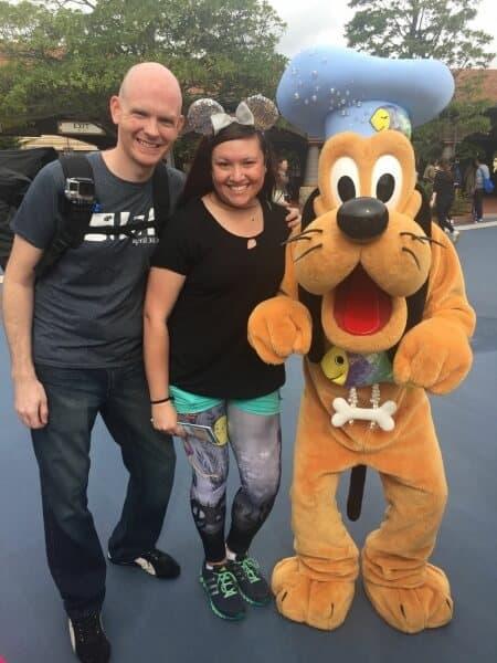 Couple and Pluto at Tokyo DisneySea